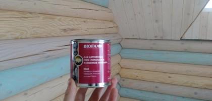 Покраска стен  и потолка деревянного дома