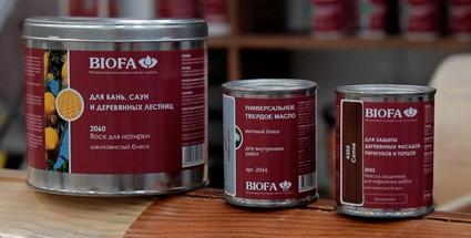 Масла и краски немецкие BIOFA