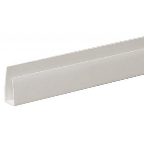 Молдинг торцевой 2040 мм для панелей белый