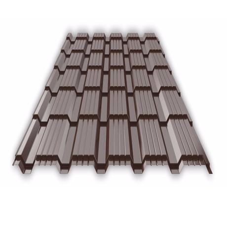 Металлочерепица Каскад 1160(1110)*0,5 (3003 шоколад)