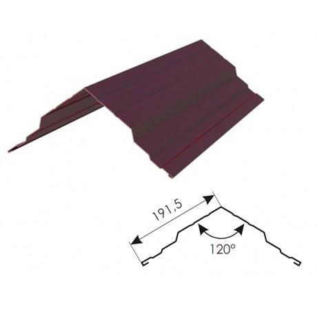 Конек для металлочерепицы 190*190*3000 мм
