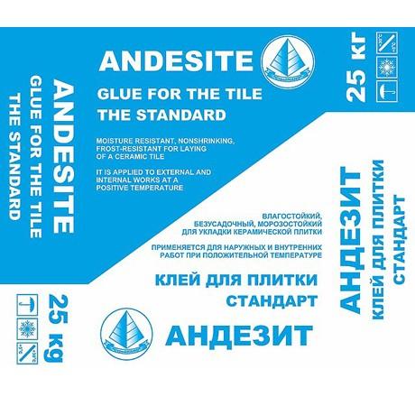Клей  для плитки  АНДЕЗИТ стандарт 25 кг (аналог С 9)