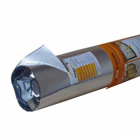 Фольга для бань Мегафлекс КF (Отраж.и гидро -пароизоляционная) 1*30м/п