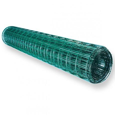 Сетка сварная  ОЦ  ПВХ  0,8 *30*30мм разм.1,5*30 зеленая