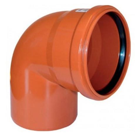 Отвод  НПВХ 110*90  наруж.оранж.