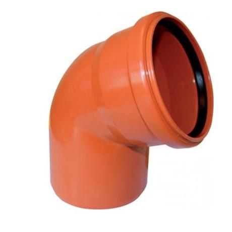 Отвод  НПВХ 110*45 наруж.оранж.