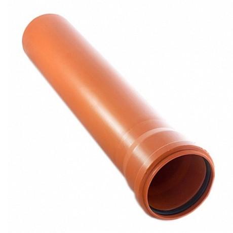 Труба НПВХ наружная 3,4*110*1000 мм оранжевая