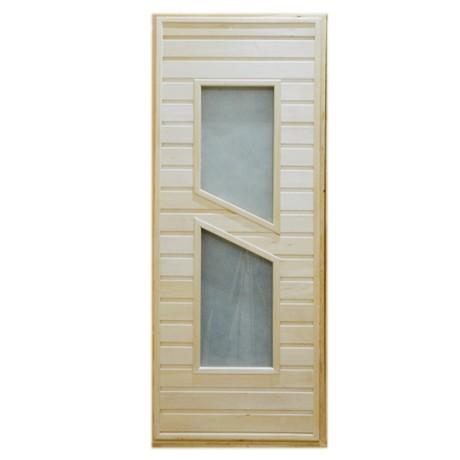 Дверь банная Тип 8 (остекл) 1800*700
