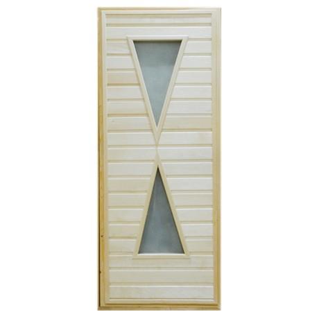 Дверь банная Тип 9 (остекл) 1800*700