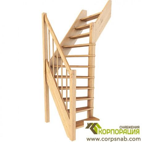 Лестница ЛС-91м  Базовая Сосна Правая