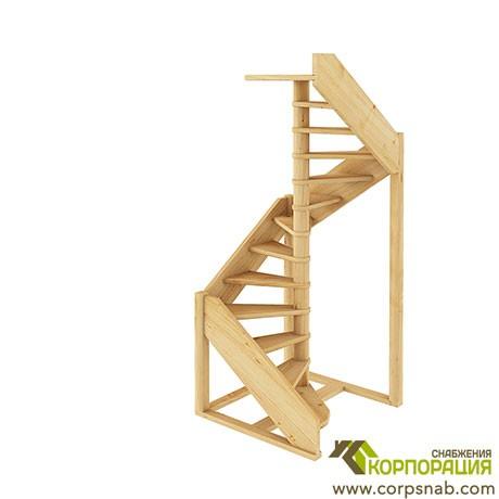 Лестница ЛС-1.2хм  Сосна Правая
