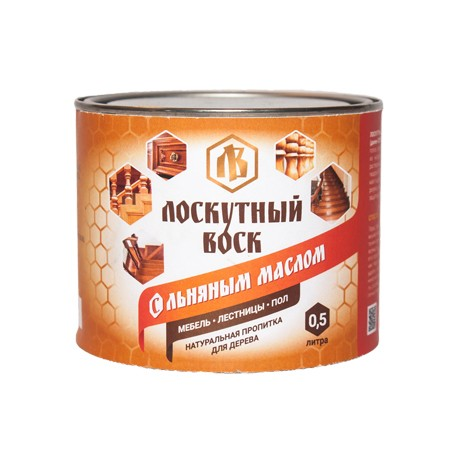 Лоскутный воск с льняным маслом 0,5 л (д/внут.обработки)