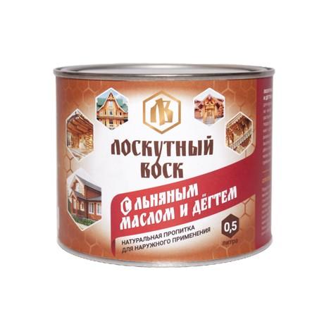 Лоскутный воск с льняным маслом и дёгтем 0,5 л (д/наруж.обработки)