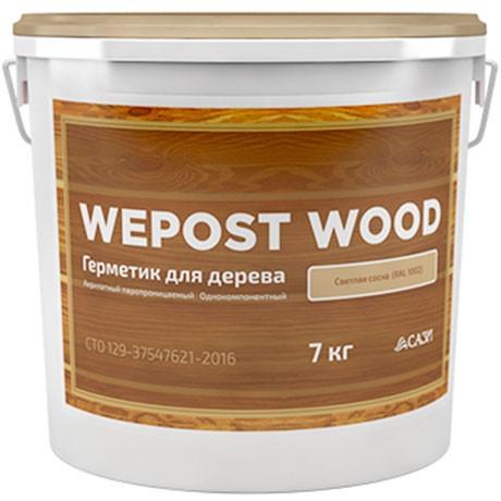 Герметик шовный для дерева АМЕРИКАНСКАЯ СОСНА 7кг Wepost Wood