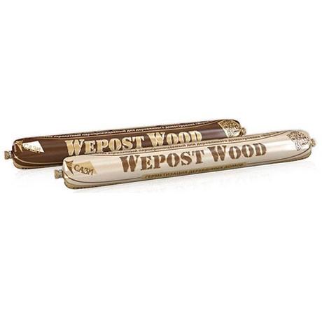 Герметик шовный для дерева Беленый ДУБ 600мл Wepost Wood