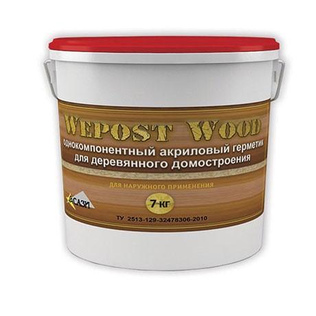 Герметик шовный для дерева Белый 7кг Wepost Wood