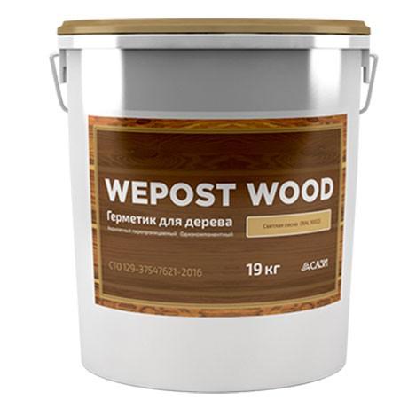Герметик шовный для дерева Wepost Wood 19 кг светлая сосна