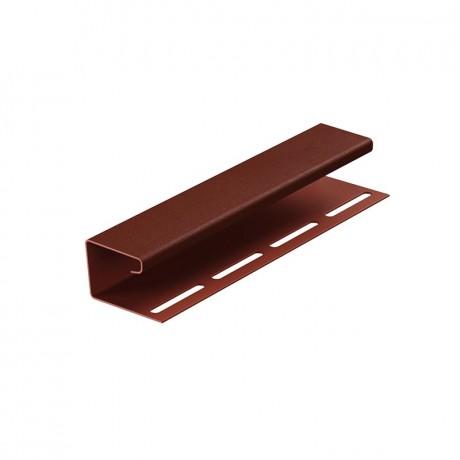 Профиль J на сайдинг виниловый PREMIUM 3000 мм шоколад, гранат