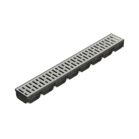Лоток 125*70*1000 мм в комплекте с стальной решеткой