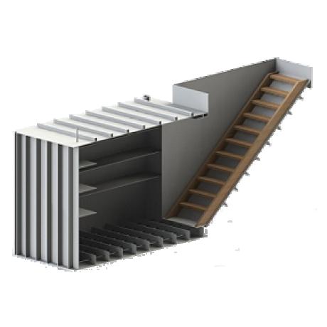 Погреб прямоугольный, боковой вход-горизонтальный 1500х1500х2000