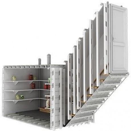 Погреб прямоугольный, боковой вход-вертикальный 2000х1500х2000