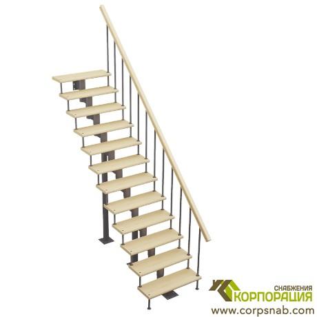 Модульная лестница прямой марш 2700-2820 мм