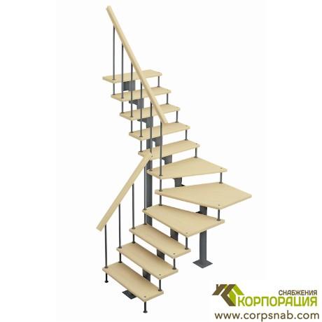 Модульная лестница с поворотом 90 градусов 2925-3055 мм