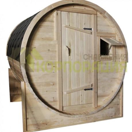 Баня-бочка круглая из кедра 2000x2100x2100 мм