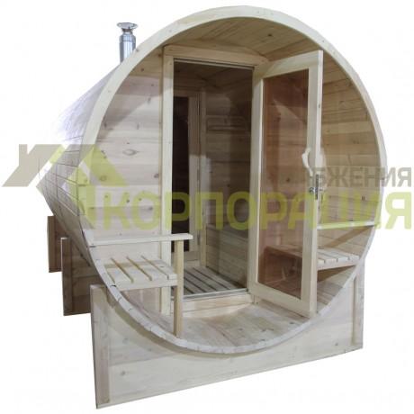 Баня-бочка круглая из кедра 4000x2100x2100 мм