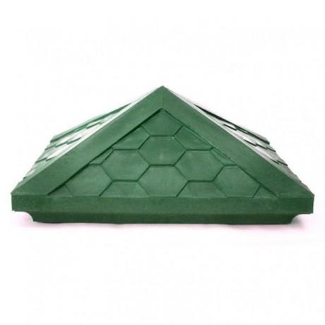 Колпак для столба забора 385*385 коричневый, серый, зеленый, красный